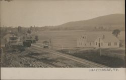 Scenic View, Railroad Depot Shaftsbury, VT Postcard