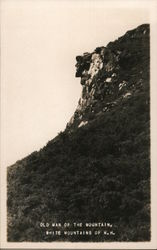 Old Man of the Mountain Postcard