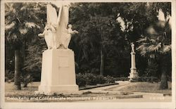 Colin Kelly and Confederate Monuments Postcard