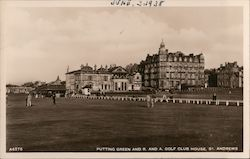 Putting Green and R. and A. Golf Club House, St. Andrews