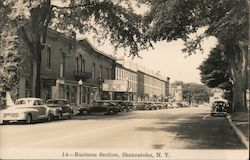 Business Section, Colonial Theater Postcard