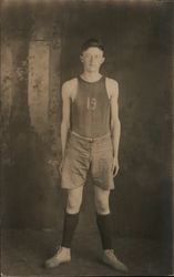 Portrait of High School Basketball Player