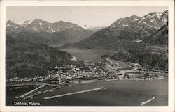 Aerial View of Cordova, Alaska Postcard