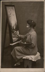 Portrait of Woman Painting