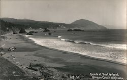 Beach at Port Orford, Oregon Coast Highway Postcard