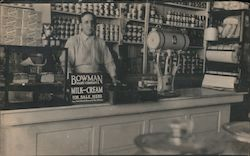 General Store Counter, Bowman Dairy Sign