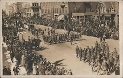 Victory Parade on Main Street Postcard