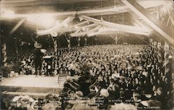 Billy Sunday Preaching in Tabernacle Postcard