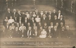The Pastors, Their Wives and Assistants with Billy Sunday at Tabernacle Postcard