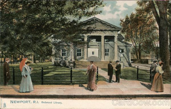 Redwood Library Newport Ri Postcard
