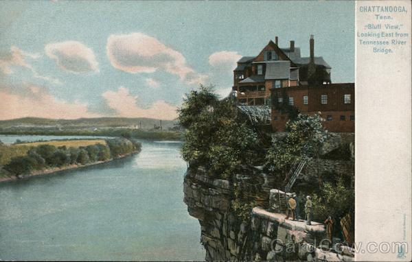 Bluff View, Looking East from Tennessee River Bridge Chattanooga