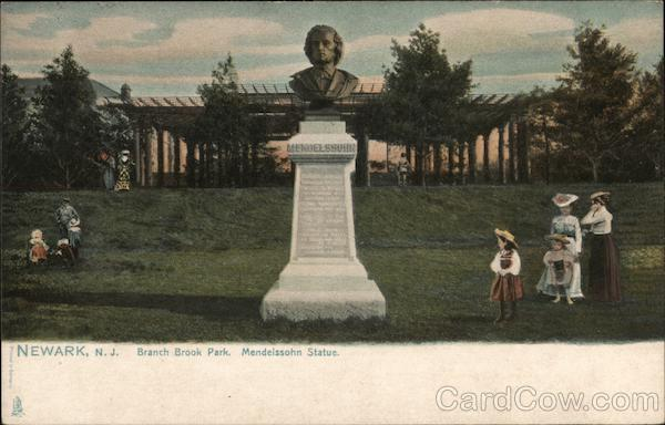 Branch Brook Park, Mendelssohn Statue Newark New Jersey