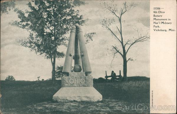 4th Ohio Battery Monument in Nat'l Military Park Vicksburg Mississippi
