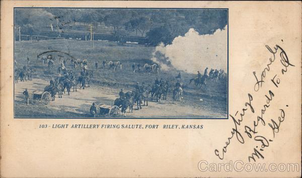 Light Artillery Firing Salute Fort Riley Kansas