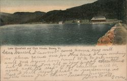 Lake Mansfield and Club House Postcard