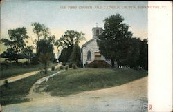 Old First Church Old Catholic Church Postcard
