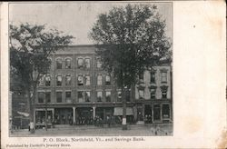 P.O. Block, Northfield Vt. and Savings bank
