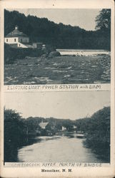 Electric Light Power Station and Dam; Contoocook River North Of Bridge