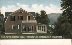 "Secretary John Hay's Summer Home, ""The Fells"" mt. Sunapee, N.H. in Distance Postcard"
