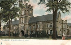 New Library, Princeton University Postcard