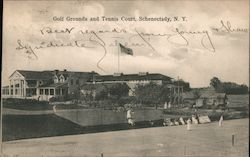 Golf Grounds and Tennis Court Postcard