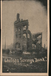 Chelsea Savings Bank after Fire Postcard