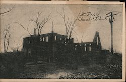 St. Rose Church and School After Fire