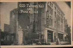 Odd Fellow Hall and Post Office After Fire