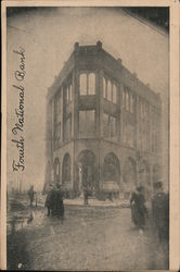 First National Bank after Fire Postcard