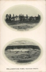 Fountain Hotel & Point Pots - Lower Basin Postcard