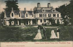 Original Daniel Webster House, 1859 Postcard