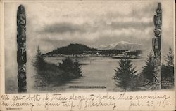 View of Wrangell Across Water