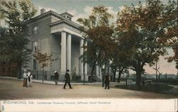 Confederate Museum, Formerly Jefferson Davis' Residence Postcard