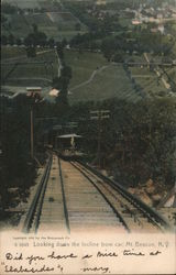 Looking down the Incline from car, Mt. Beacon Postcard