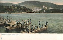 Bridge Building, Army Corps of Engineers Postcard