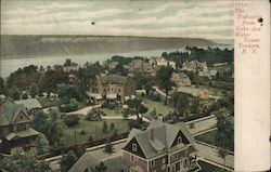 The Palisades from Lake Ave Water Tower Postcard