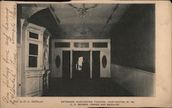 Entrance to Huntingtin Theatre, C.C. Beeber, Owner and Manager