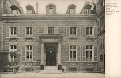 An Old French Mansion, Now the Paris Offices of the Wanamaker Business Postcard