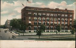 General Offices, AT & SF Railway Postcard