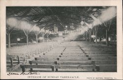 Interior of Sunday Tabernacle