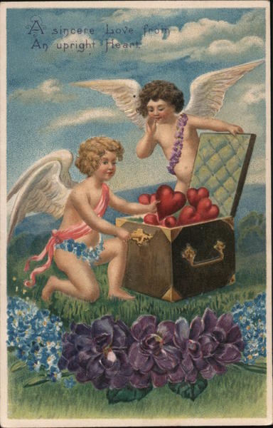 A Sincere Love from an Upright Heart Cupid