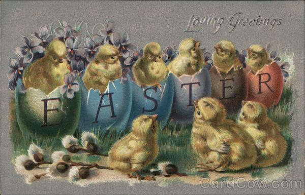Loving Easter Greetings With Chicks