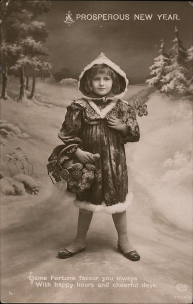 A Prosperous New Year: Girl in Snow Children