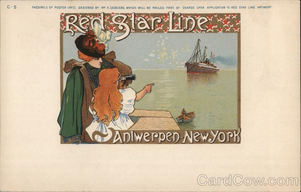 Red Star Line Antwerpen - New York