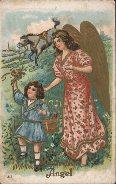 The Guardian Angle - A Little Girl with A Guardian Angel
