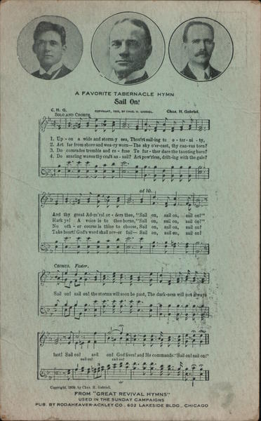 A Favorite Tabernacle Hymn - Three Men and a Song Billy Sunday