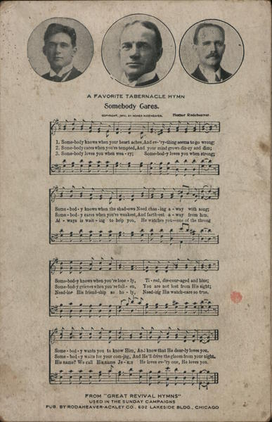A Favorite Tabernacle Hymn: Somebody Cares Music
