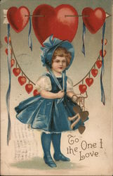 To The One I Love - A Young Girl Holding Hearts