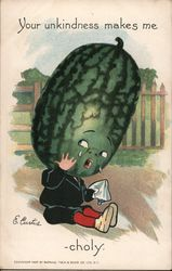 Your Unkindness Makes me Melon-Choly: Child With Watermelon Head