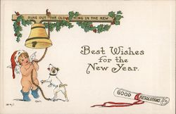 Best Wishes for the New Year - Ring Out the Old - Ring in the New